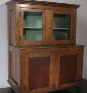 Exquisite Early Miniature Step Back Cupboard With English Wainscoting