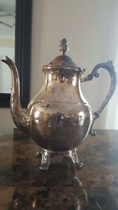 F B Rogers Silver Company Vtg Antique 10 Trademark 1883 Teapot Or Coffee Pot