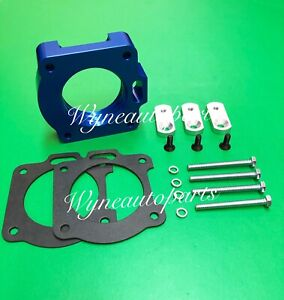 Blue Billet Aluminum Throttle Body Spacer Fit 99 01 Ford Mustang 3 8l V6