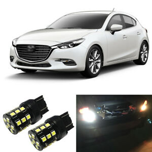 White Led 7440 W21w Backup Reverse Light Bulbs For 2004 2016 Mazda 3 Hatchback