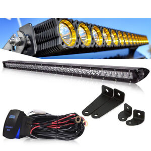 20 24inch 100w Led Light Bar Flood Spot Work Driving Offroad 4wd Truck Atv Suv