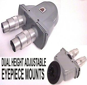 Ao American Optical Microscope Binocular Head Height Adjustable Eyepiece Mounts