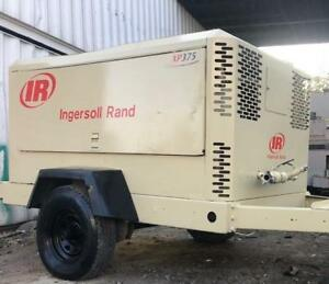 375 Cfm Ingersoll Rand Xp375wcu Portable Air Compressor S n 369407udqb12