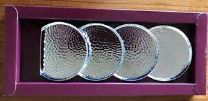 Silver Plated Coasters Four Made By Scandia Silver Karlshamn Sweden