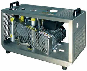 Scuba Compressor Stainless Steel Cabinet With Automatic Drains Electric