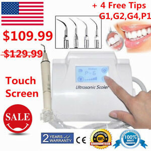 Dental Ultrasonic Piezo Scaler Scaling handpiece Tips Lcd Touch Screen Fit Ems