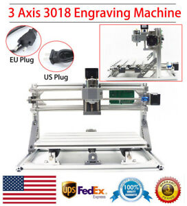 3axis 3018cnc Mini Router Wood Milling Engraving Machine Engraver Grbl Control