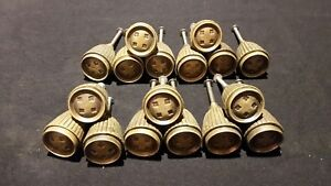 Vintage Brass Drawer Pull Knobs Set Of 17 Matching