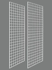 Set Of 2 Gridwall Panels 2 X 6 Grid Wall Display White Panel