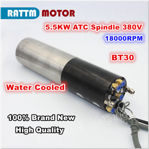 Bt30 5 5kw 380v Atc Automatic Tool Change Water Cooled Spindle Motor 18000rpm