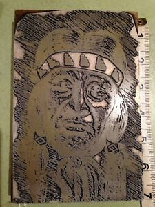 Printing Letterpress Printers Block Native American Printers Cut Large