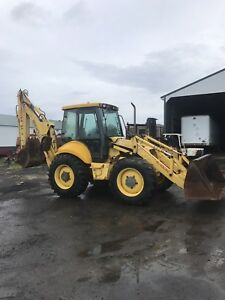 New Holland Lb115 Backhoe 4x4 Extended Hoe