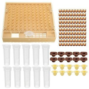 Katoot Bee Beekeeping 100 Cell Cups Cupkit Tool Set Queen Rearing System Bee