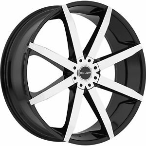 18x8 Machined Black Akuza Zenith Wheels 5x100 5x115 35 Pontiac Grand Prix Vibe