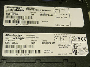 Allen Bradley Controllogix 1756 l55m16 7 5mb Processor Very Nice Used Tested 2