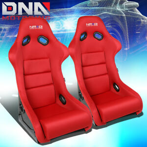 Nrg Red Reclinable Fiberglass woven Sports Bucket Racing Seats cusions