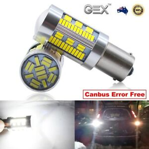Gex 2 X Ba15s 1156 105 Led White Car Brake Stop Tail Light Bulb Globe