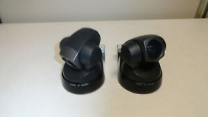 Lot Of 2 Sony Evi d100 Color Video Cameras W Vaddio Ezcamera Cable Shoe