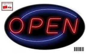 Extra Large 24x14 Open Led Neon Sign With On off Animation On off Switch chai