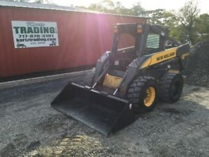 2006 New Holland Ls185 b Skid Steer Loader W Weight Kit