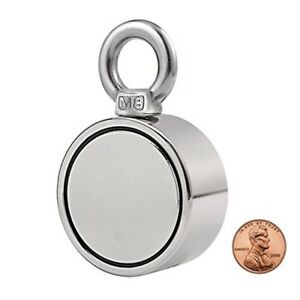 Double Side Round Neodymium Magnet Combined 530lbs 240kg Pulling Force Super