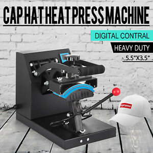 Digital Hat Cap Heat Press Machine Sublimation Transfer Steel Frame Swing Away