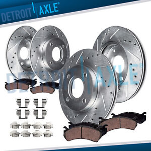 1998 1999 2002 Honda Accord 2 3l Front Rear Drilled Brake Rotors Ceramic Pad