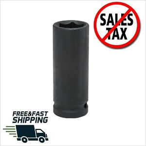 Deep Impact Socket 6 Point Chamfered Lead In Drive Tools 1 2 In Drive 3 4 Inch