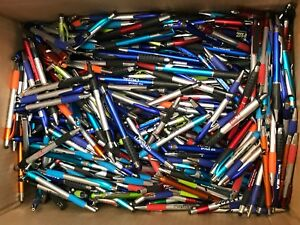 1000 Lot Misprint Ink Pens W Soft Tip Stylus For Touch Screen Assorted Barrel