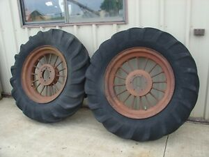Farmall F20 Tractor Rear Wheel And Tire Set 13 28 Firestone