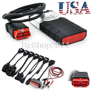 Us Diagnostic Scanner Kits Vci Obd2 Ds Car Truck Cd Software 8 Pcs Car Cables