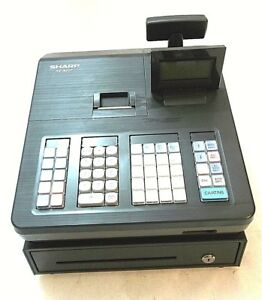 Sharp Xe a207 Electronic Cash Register 99 Departments 25 Clerks Lcd no Key