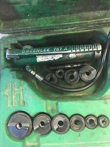 Greenlee Slug Buster Knock Out Punch Set Hydraulic Driver 1 2 2 767a