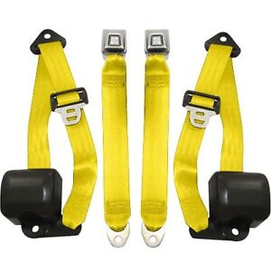 1992 95 Jeep Wrangler 3 Pt Retractable Front Seat Belts Yellow