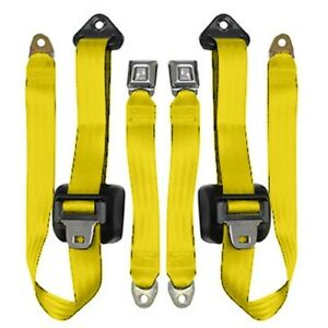 1982 91 Jeep Wrangler 3 Pt Retractable Front Seat Belts Yellow