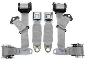 1974 77 Corvette Seat Belts Dual Retractors Pair Economy Color 6007 Silver