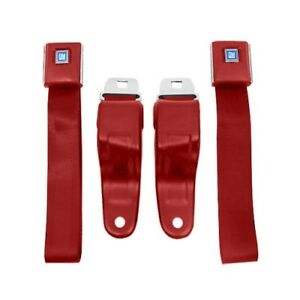 Camaro Firebird Seat Belts Oe Yle 1967 1969 Pair Flame Red