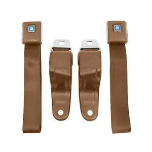 Camaro Firebird Seat Belts Oe Yle 1967 1969 Pair Medium Beige
