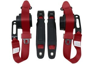 1967 73 Camaro 3 Point Conversion Seat Belts Universal Economy Color 2007 red