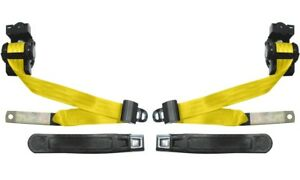 Camaro Firebird Seat Belts Oe Style 1974 81 Fronts Only Color Yellow