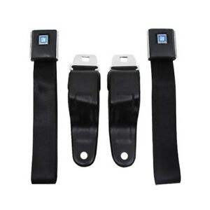 Camaro Firebird Seat Belts Oe Yle 1967 1969 Pair Black