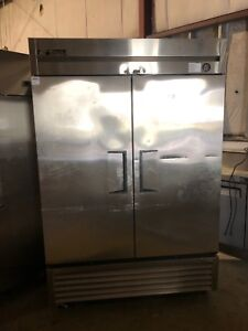True T 49f 2 Door Commercial Reach In Freezer Used Stainless Freezer