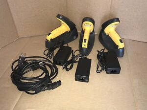 Lot Of 3 Symbol Barcode Scanners P360 sr1214100ww With Charging Cradles