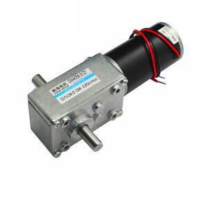 Gw4058 31zy Dc6 12 24v Worm Gear Motor Double Exit Shaft With Self locking