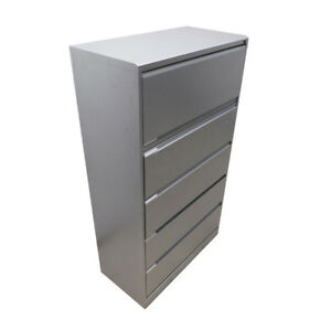 Knoll 21055 2 E series Calibre Gray 5 drawer Lateral File Storage Cabinet