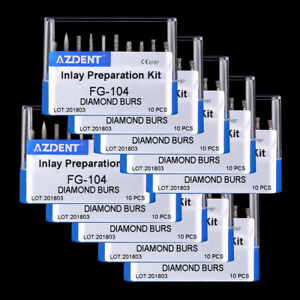 30 Kits Dental Handpiece Fg Diamond Burs Drills Set Fg 104 Inlay Preparation Set
