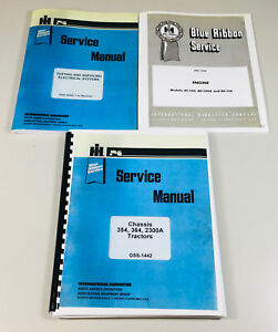 International 354 356 2300a Tractor Chassis Engine Service Repair Shop Manual