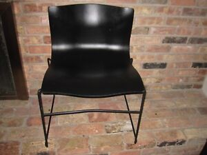 Mid Modern Knollstudio 1985 Vignelli Design Hankerchief Chair Black Dallas Tx