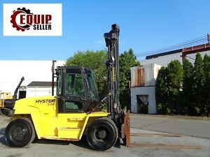 Hyster H280hd 28 000lbs Forklift Boom Truck Side Shift Enclosed Cab