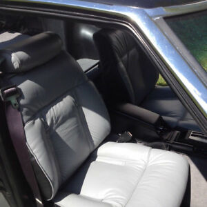 1979 1983 Datsun 280zx Replacement Leather Grey Black Seat Cover